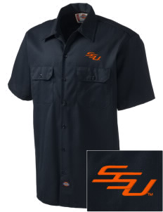 Savannah State University Tigers Embroidered Dickies Men's Short-Sleeve Workshirt
