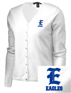 Agua Dulce Elementary School Eagles Embroidered Women's Stretch Cardigan Sweater
