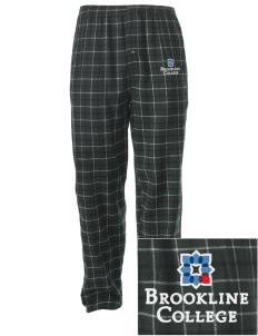 Brookline College College Embroidered Men's Button-Fly Collegiate Flannel Pant