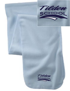 Tilden School School  Embroidered Extra Long Fleece Scarf