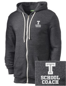 Tilden School School Embroidered Alternative Men's Rocky Zip Hooded Sweatshirt