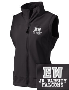 Explorer West Middle School Falcons  Embroidered Women's Glacier Soft Shell Vest