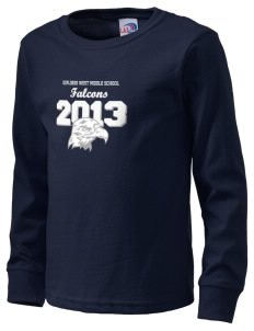 Explorer West Middle School Falcons  Kid's Long Sleeve T-Shirt