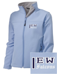 Explorer West Middle School Falcons Embroidered Women's Soft Shell Jacket