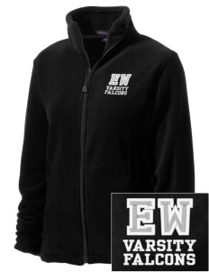 Explorer West Middle School Falcons Embroidered Women's Wintercept Fleece Full-Zip Jacket