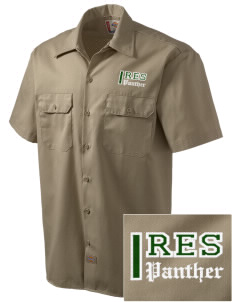 Mesa Verde Elementary School Panther Embroidered Dickies Men's Short-Sleeve Workshirt