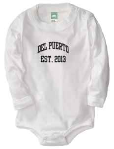 Del Puerto High School Bulldogs  Baby Long Sleeve 1-Piece with Shoulder Snaps