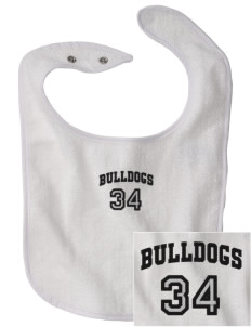 Del Puerto High School Bulldogs Embroidered Baby Snap Terry Bib