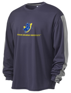 Southern Arkansas University Muleriders  Russell Men's Long Sleeve Everyday Performance T-Shirt