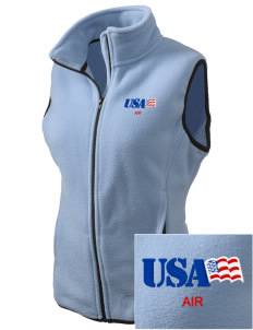 Cheyenne Mountain Air Station Embroidered Women's Fleece Vest