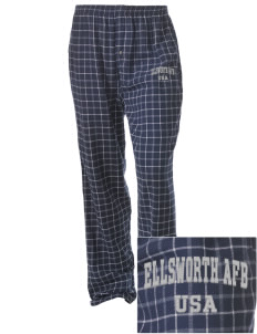 Ellsworth AFB Embroidered Unisex Button-Fly Collegiate Flannel Pant