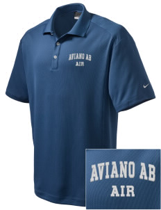 Aviano Air Base Embroidered Nike Men's Dri-Fit Classic Polo