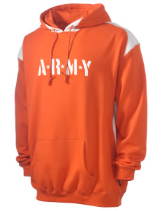 Hunter Army Airfield Men's Pullover Hooded Sweatshirt with Contrast Color