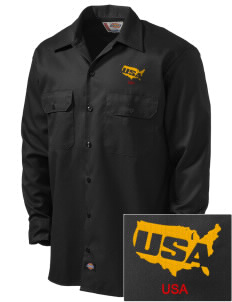 Aberdeen Proving Ground Embroidered Dickies Men's Long-Sleeve Workshirt