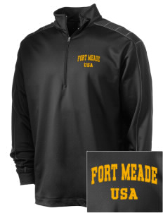 Fort Meade Embroidered Nike Men's Golf Dri-Fit 1/2 Zip
