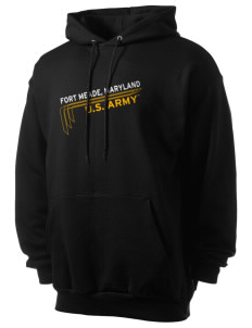 Fort Meade Men's 7.8 oz Lightweight Hooded Sweatshirt