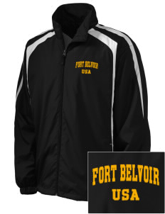 Fort Belvoir Embroidered Men's Colorblock Raglan Jacket