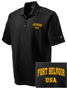 Fort Belvoir Embroidered Nike Men's Dri-FIT Pique II Golf Polo