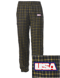 Camp Beauregard Embroidered Men's Button-Fly Collegiate Flannel Pant