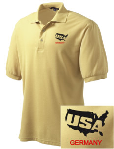 Bad Aibling Station Embroidered Men's Silk Touch Polo