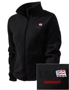 Bad Kreuznach Embroidered Women's Fleece Full-Zip Jacket