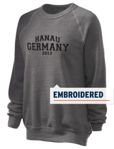 Hanau Embroidered Unisex Alternative Eco-Fleece Raglan Sweatshirt