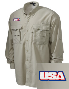 USAG Schweinfurt Embroidered Men's Explorer Shirt with Pockets