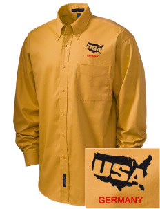 USAG Schweinfurt Embroidered Men's Easy-Care Shirt