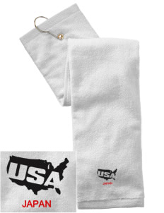 Camp Zama Embroidered Hand Towel with Grommet