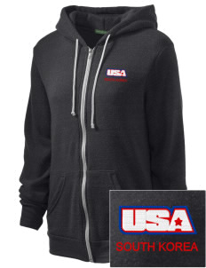 Camp Casey Embroidered Alternative Unisex The Rocky Eco-Fleece Hooded Sweatshirt