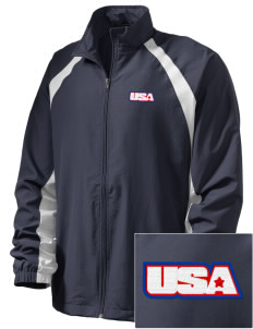 Camp Hialeah-Pusan  Embroidered Men's Full Zip Warm Up Jacket