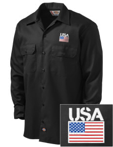 Camp Red Cloud Embroidered Dickies Men's Long-Sleeve Workshirt