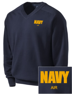 Jacksonville Naval Air Station Embroidered Men's V-Neck Sweater