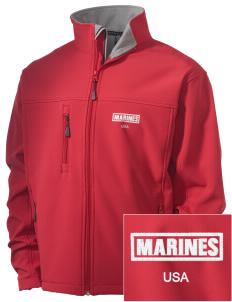 Camp Lejeune Embroidered Men's Soft Shell Jacket