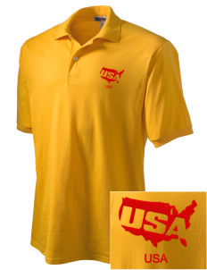 Parris Island Recruit Depot Embroidered Men's Jersey Polo