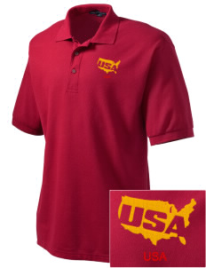 Parris Island Recruit Depot Embroidered Men's Silk Touch Polo