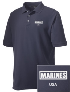 Parris Island Recruit Depot Embroidered Men's Performance Plus Pique Polo