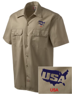 Petaluma CG Training Center Embroidered Dickies Men's Short-Sleeve Workshirt