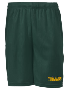 "Edgewood High School Trojans Men's Mesh Shorts, 7-1/2"" Inseam"