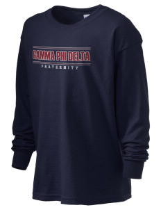 Gamma Phi Delta Kid's 6.1 oz Long Sleeve Ultra Cotton T-Shirt