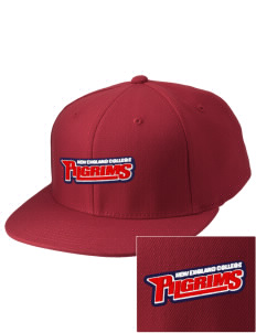 New England College Pilgrims Embroidered Diamond Series Fitted Cap
