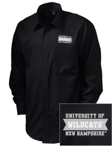 University of New Hampshire Wildcats  Embroidered Men's Long Sleeve Non-Iron Twill Shirt