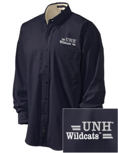 University of New Hampshire Wildcats Embroidered Men's Easy-Care Shirt