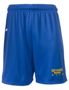 "University of Tennessee at Chattanooga Mocs  Russell Men's Mesh Shorts, 7"" Inseam"