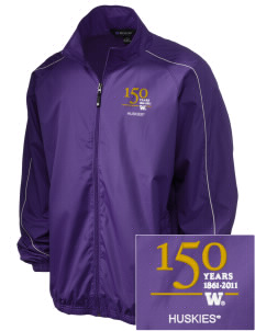 University of Washington Huskies Embroidered Holloway Men's Full-Zip Jacket