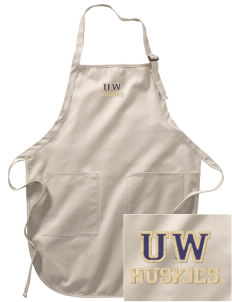 University of Washington Huskies Embroidered Full-Length Apron with Pockets