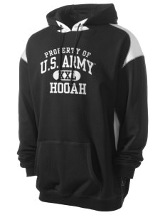 U.S. Army Men's Pullover Hooded Sweatshirt with Contrast Color