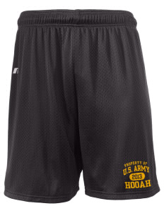 "U.S. Army  Russell Men's Mesh Shorts, 7"" Inseam"