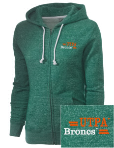 University of Texas-Pan American Broncs Embroidered Women's Marled Full-Zip Hooded Sweatshirt