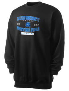 Harford Community College Fighting Owls Men's 7.8 oz Lightweight Crewneck Sweatshirt
